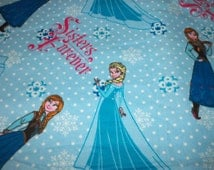 Sisters Forever Fabric Frozen Movie Flannel Light Blue Popular By The Fat Quarter New BTFQ