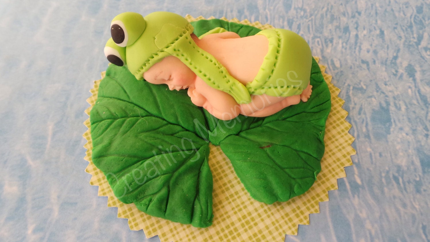 Edible Cake Decorations Baby Boy : BABY FROG Edible Cake decorations for BABY boy or girl baby