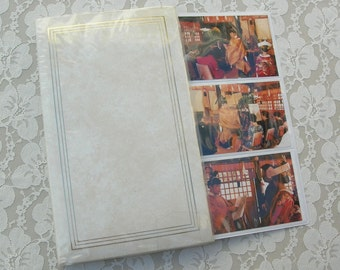 Japanese Photo Album for 132 photos, photo sheets open out, includes 37 optional photos of a traditional Japanese wedding