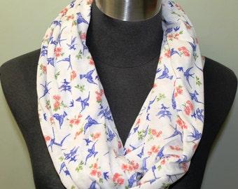 Light Knit, Blue Bird Infinity Scarf
