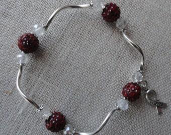049  Head and Neck Cancer Awareness Bracelet
