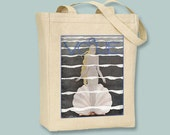 Venus 1920s Vogue Cover Natural or Black  Canvas Tote  - Selection of sizes available