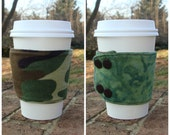 Reversible Coffee/Tea Cozy Sleeve, Thermally Insulated - Camo Comfort