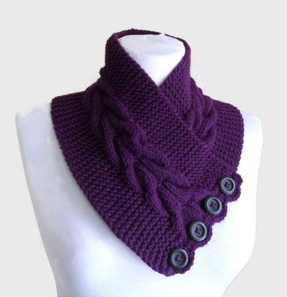 purple, neckwarmers, autumn, wool, hand-knitted,fashion,gift, 2015 trends