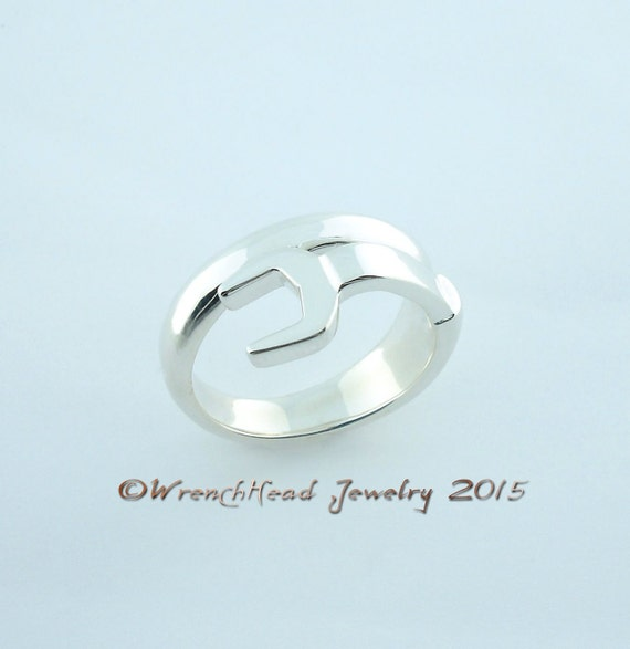 sterling silver spud wrench ring
