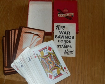 Vintage Deck of Hamilton Pinochle Playing Cards