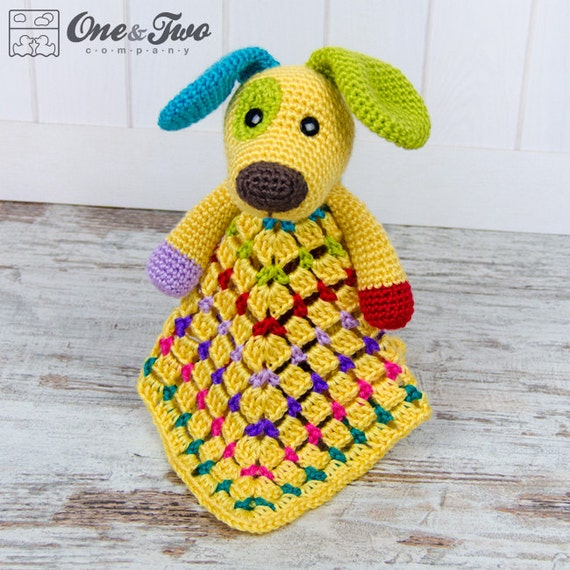 Scrappy the Happy Puppy Lovey / Security Blanket PDF Crochet