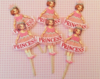 Little, Pink Princess Cupcake Toppers