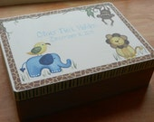 Personalized Keepsake Box/Jungle/Safari Themed