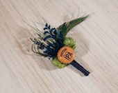 One of Kind READY TO SHIP Hops Boutonniere Summit Brewing