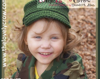 Army Crochet Pattern Little ComBrat Cap