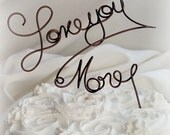 Fun Cake Topper, Love You More