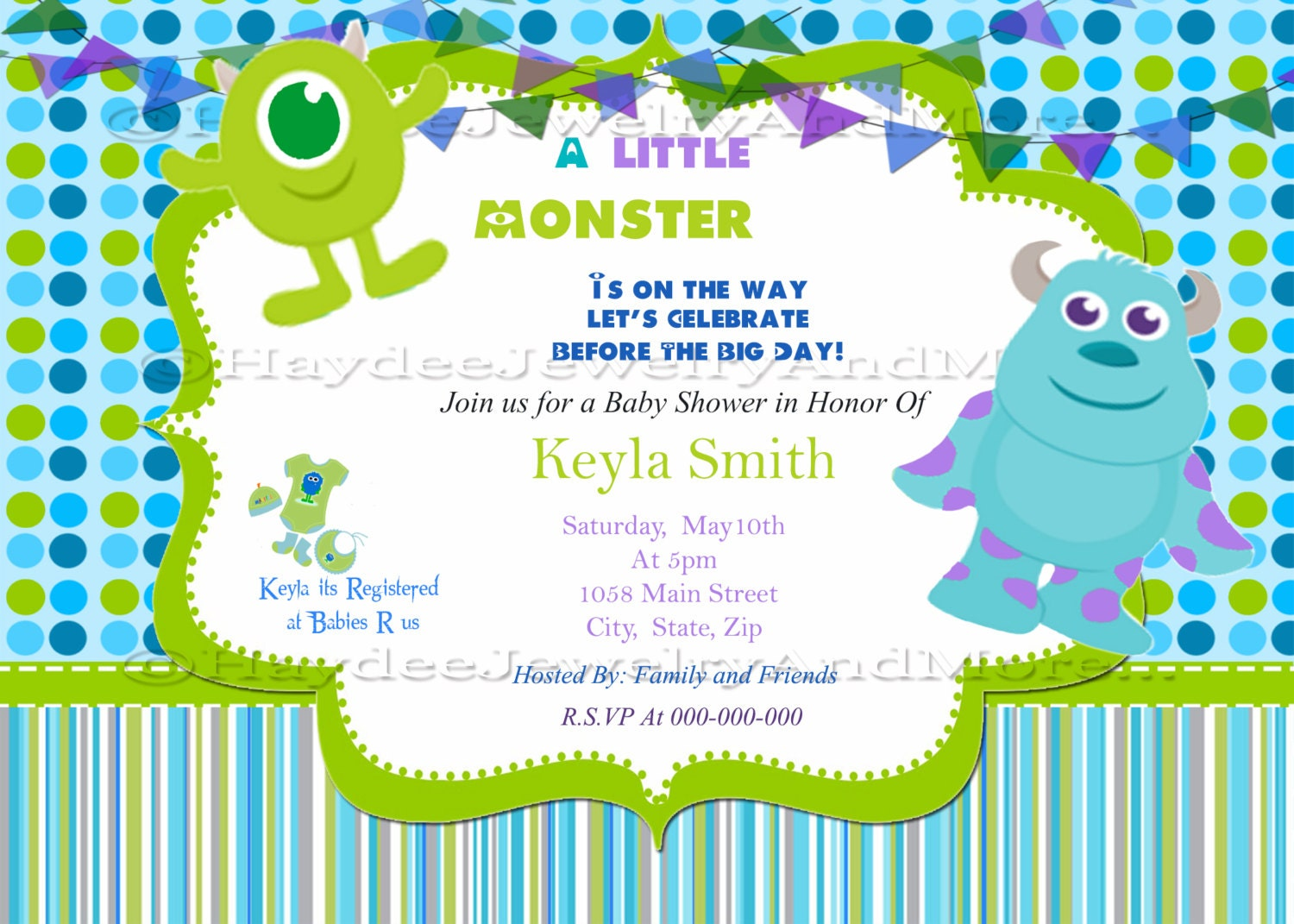 Monster Inc Baby Shower Invitations is one of our best ideas you might choose for invitation design