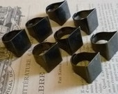 Jewelry Supplies 8 Black Plated Wide Adjustable Ring Bases