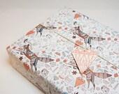 Fox + Diamonds Wrapping Paper