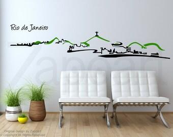 Rio de Janeiro Skyline Wall Vinyl Decals