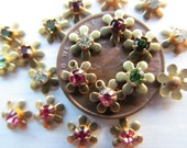 Tiny Rhinestone Flowers