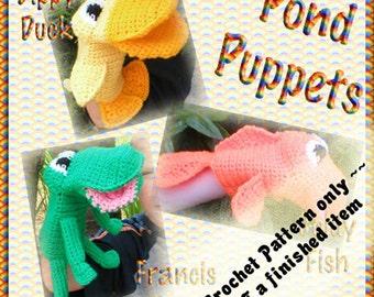 PDF Crochet Pattern Pond Puppets