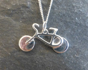 Sterling Silver Bicycle Pendant and Chain