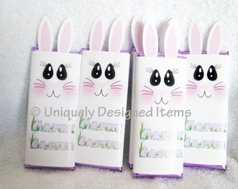 Easter Party Favors - EASTER BUNNY bars - Personalized Easter Treats - cute for Easter Egg hunts or Easter baskets!