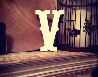 Hand-painted Wooden Letter V -  Wall Letters - Circus Font - Various sizes, finishes and colours