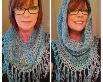 Hooded Fringed Cowl