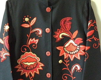 Vintage Alex Kim Embroidered Cotton Jacket