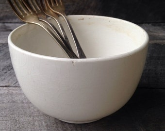 Ironstone Beautiful Worn Vintage Bowl