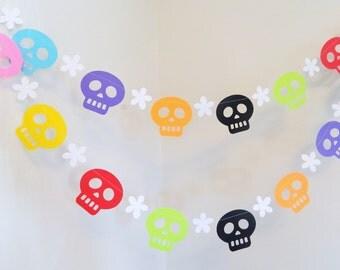 Day of the Dead Decorations - Dia de los Muertos - Day of the Dead Wedding Decor - Fiesta Party Decor - party Garland -Custom colors