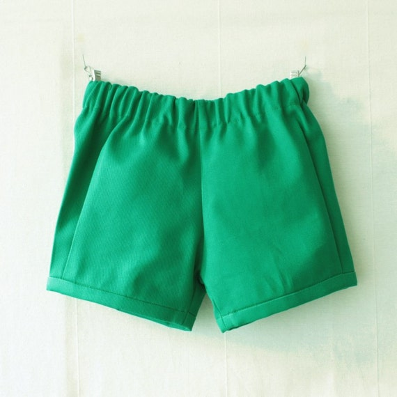 Baby boy shorts, green hipster style and retro boys shorts,  ring bearer bloomer shorts for babies and toddlers, baby boy wedding outfit