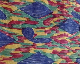 Fat quarter of printed silk taffeta
