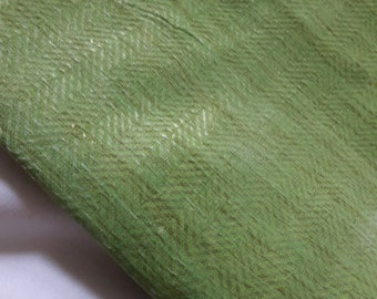 One meter  jamdani cotton chevron  fabric in lovely pastel green