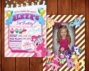 My Little Pony Invitation Pinkie Pie Digital Format Printable