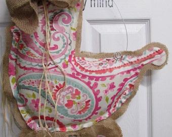 It's A Girl Burlap Door Hanging/ Door Decoration