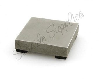 Impressart Steel Bench Block, Impress Art Bench Block, Hand Stamped Jewelry Supply, Metal Font Design Stamp Tools