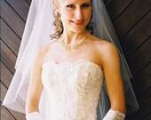 Mandy Bridal Veil Two Tiers Shoulder Wrist Length