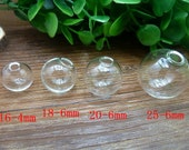 6PCS-Diy handmade coverglass crystal ball glass ball coverglass Dandelion Necklace fitting Jewelry necklace fitting