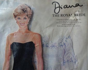Princess Diana: Diana The ROYAL BRIDE - Paper Doll, Cut Out, Dress- up 1995