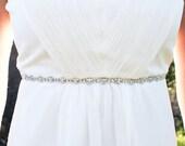 LIZZIE - Rhinestone Bridal Sash, Wedding Belt