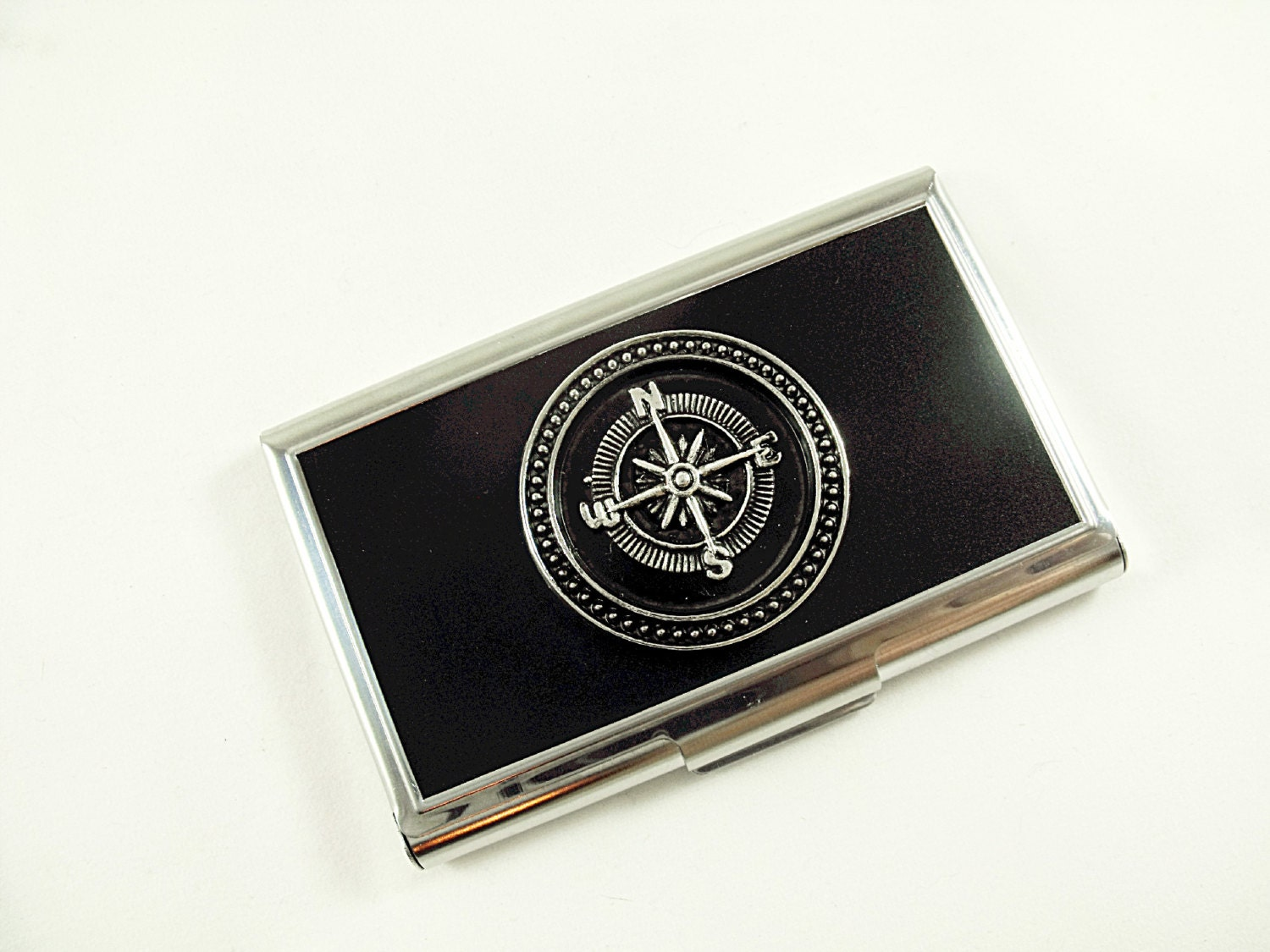 Business card holder credit card holder steampunk silver zoom magicingreecefo Gallery