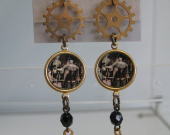 Gothic steampunk earrings