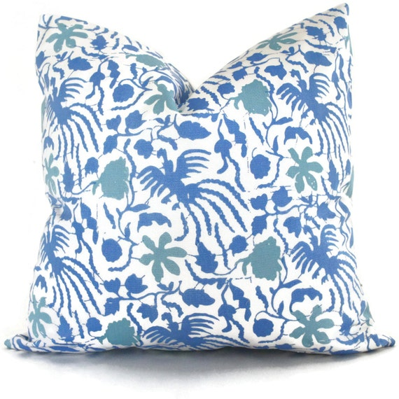 French Blue Throw Pillows : French Blue Outdoor Pillow Cover Quadrille China Seas Seya