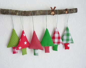 Christmas tree ornaments 6 fabric christmas decoration
