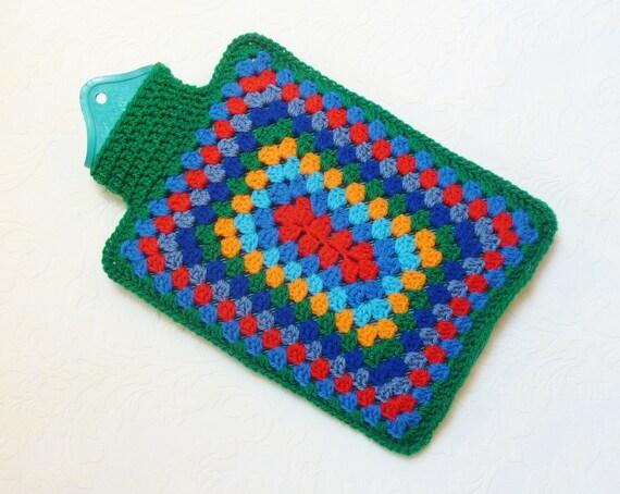 Hot water bottle cover crochet hottie cozy