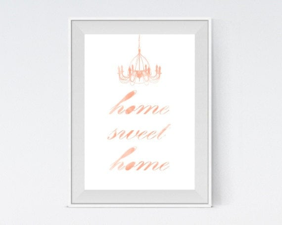 "Inspirational Art ""Home Sweet Home"" Typography Print Motivational Wall Decor Watercolor Poster Home Decor Quote Minimalist"
