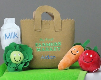 Embroidered Personalized Farmers Market Toy Set - gfyE9364181