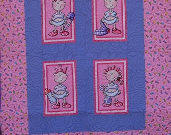 Funny Babies Quilts -  Girl Quilts - Moda Fabric Funny Babies Quilts
