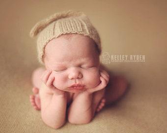 Organic Classic Night Cap newborn photo prop hat baby girl hat baby boy hat
