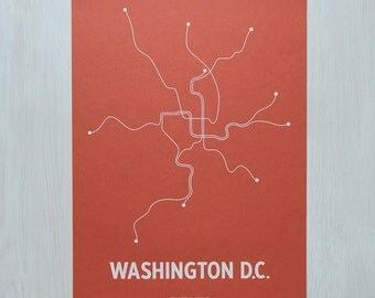 DC Screen Print - Coral/White