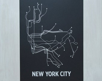 NYC Screen Print - Black/White